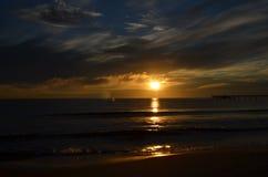 在波罗的海的日出 库存照片