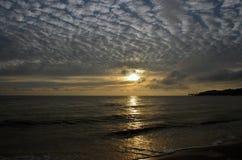 在波罗的海的日出 免版税库存照片