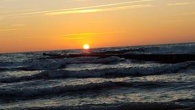 在波罗的海的日落 库存照片
