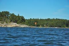 在波罗的海的海岛上的生活 免版税库存照片