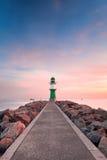 在波罗的海的灯塔 图库摄影