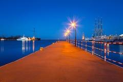 在波罗的海的码头在格丁尼亚 免版税库存照片