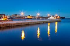 在波罗的海的码头在格丁尼亚 库存照片