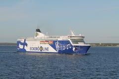 在波罗的海的船 免版税图库摄影