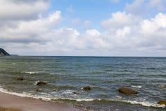 在波罗的海的阳光戏剧 免版税库存照片
