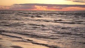 在波罗的海里加Jurmala的日落在拉脱维亚 影视素材