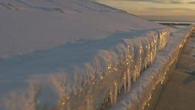 在波罗的海,里加,拉脱维亚海湾的日落  股票录像
