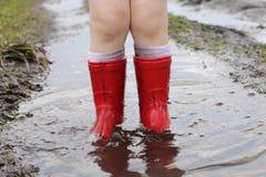 在泥的启动 免版税库存图片