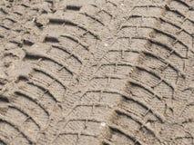 在泥的轮胎印刷品 库存图片
