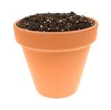 在泥罐的有机盆栽土 图库摄影