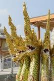 在泰国亭子,商展2015年米兰的传统龙 免版税库存图片