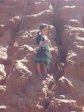从在泰国北部的小女孩 库存照片