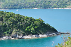 从在泰国南部的海景背景 库存图片