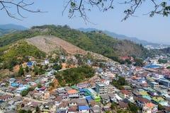 在泰国和缅甸之间的过境 免版税库存照片