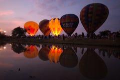 在泰国国际气球节日的热空气气球2009年 免版税库存照片