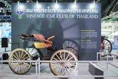 在泰国国际马达商展的葡萄酒汽车2015年 库存图片