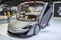在泰国国际马达商展的570s迈凯轮汽车2015年 库存照片