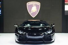 在泰国国际马达商展的Lamborghini汽车2015年 库存图片