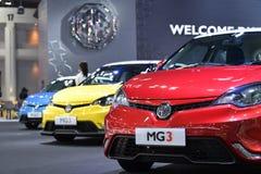 在泰国国际马达商展的MG3 免版税图库摄影