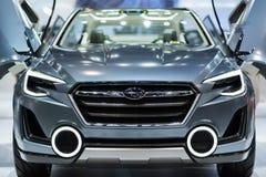 在泰国国际马达商展的Subaru汽车2015年 库存照片