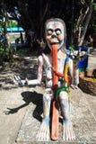在泰国地狱恐怖公园的雕象 库存图片