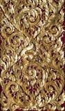 在泰国寺庙教会门的蚀刻 免版税库存图片