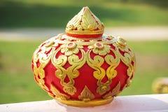 在泰国寺庙热衷的艺术手 免版税库存照片
