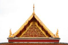 在泰国寺庙的三角形屋顶在Wat Ratchanadda,曼谷,泰国 库存图片