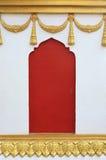 在泰国寺庙的具体窗口篱芭 免版税库存照片