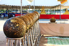 在泰国寺庙的圣洁球 免版税库存照片