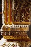 在泰国寺庙的室内设计 图库摄影