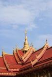 在泰国寺庙的美好的建筑学 库存照片