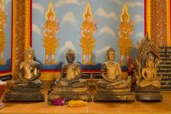 在泰国寺庙的菩萨雕塑 免版税库存照片