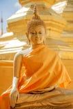 在泰国寺庙的菩萨雕塑 库存照片