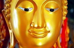 在泰国寺庙的菩萨雕塑 免版税库存图片