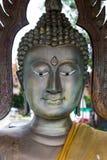 在泰国寺庙的菩萨头 免版税库存照片