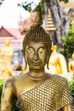 在泰国寺庙的菩萨头 免版税图库摄影