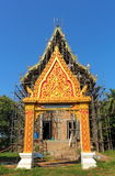 在泰国寺庙的被成拱形的入口 库存照片