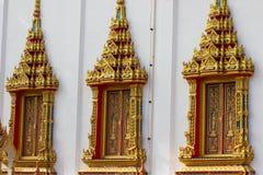 在泰国寺庙的Windows 免版税库存图片