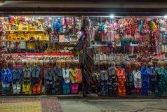 在泰国市场上的摊位 免版税库存图片