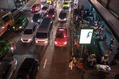在泰国广场的交通堵塞 免版税图库摄影