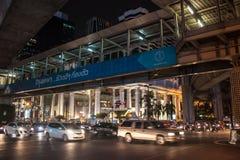 在泰国广场的交通堵塞 免版税库存图片