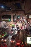 在泰国广场的交通堵塞 库存照片