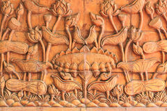 在泰国文学的莲花 库存图片