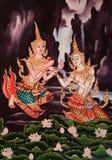 在泰国样式的传统图象 免版税库存图片