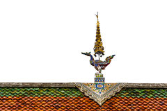 在泰国样式的屋顶山墙。 免版税库存照片