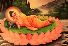 在泰国样式的菩萨图象 免版税图库摄影