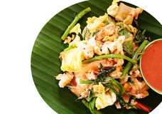 在泰国样式的Sukiyaki 图库摄影