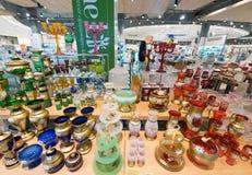 在泰国模范,曼谷的五颜六色的玻璃器皿 库存图片