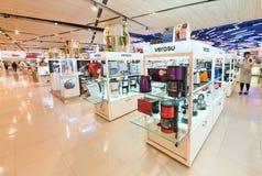 在泰国模范购物中心,曼谷的厨房器具 免版税库存图片